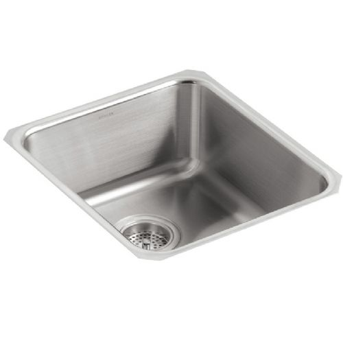 Kohler Icerock Stainless Steel Under-Mount Kitchen Bowl - 3331-NA